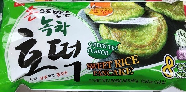 Green Tea Flavor Sweet Rice Pancake is one of four products recalled due to undeclared egg on the ingredient list.