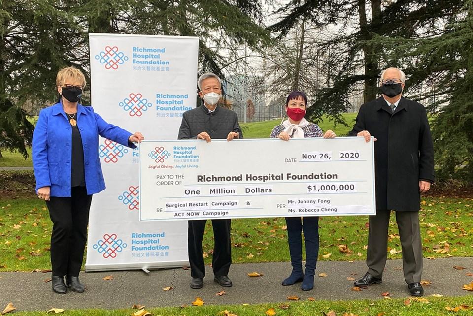 Richmond Hospital Foundation donation