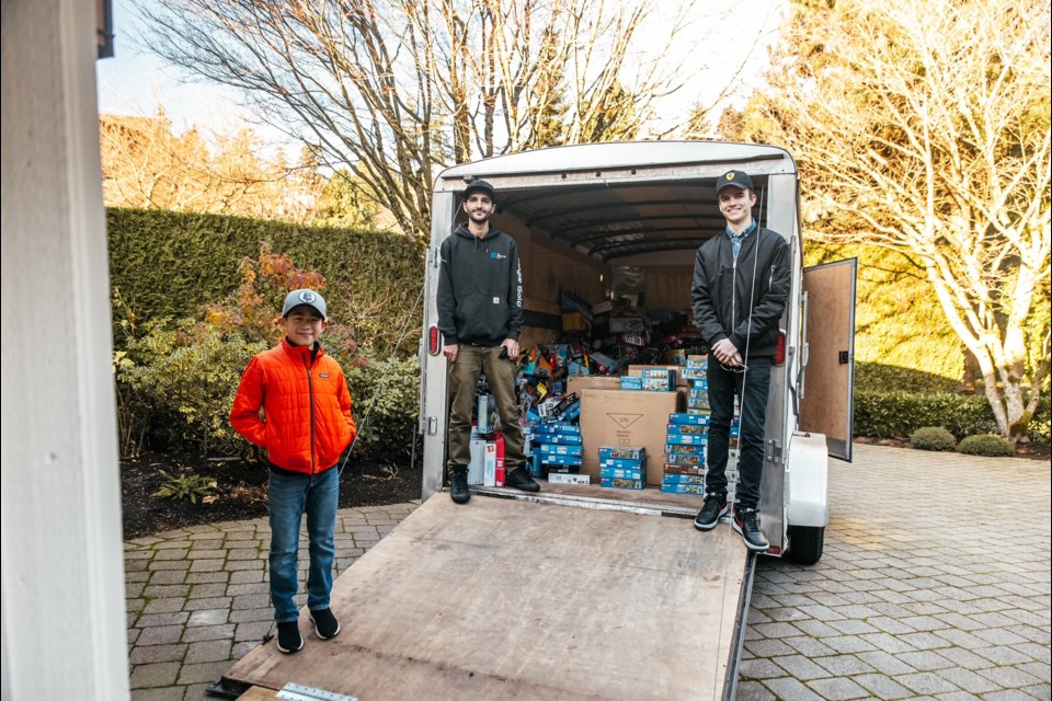 Bear Yeung (left) and Landon Brown(right) made a huge donation to help kids at BC Children's Hospital fight the feeling of isolation during the pandemic. Photo via Project 604