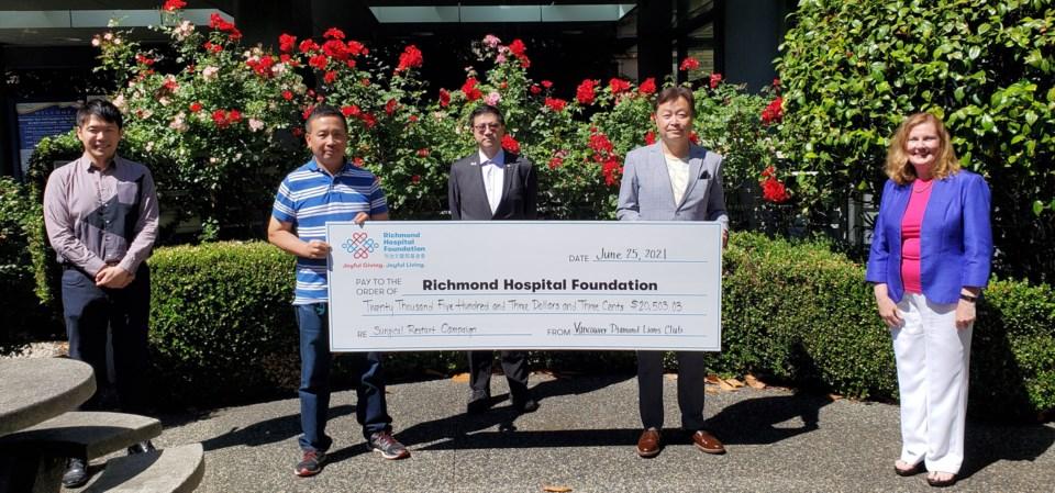 Vancouver Diamond Lions Club donation