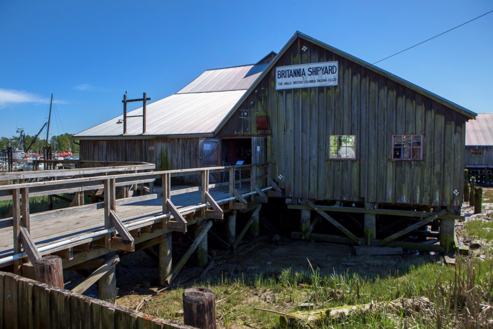 The Shipyards building in Britannia  Shipyards National Historic Site in Steveston.