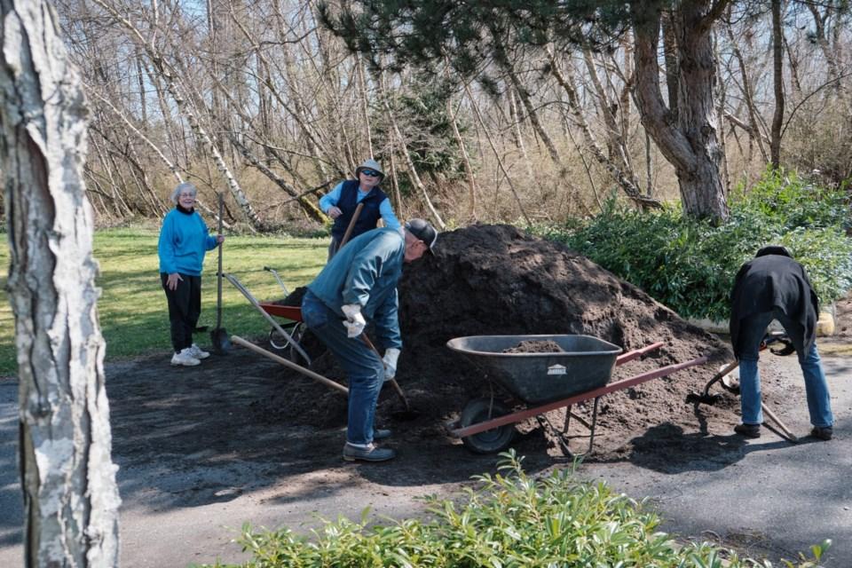 Our Saviour Lutheran church members planted their pollinator garden last week
