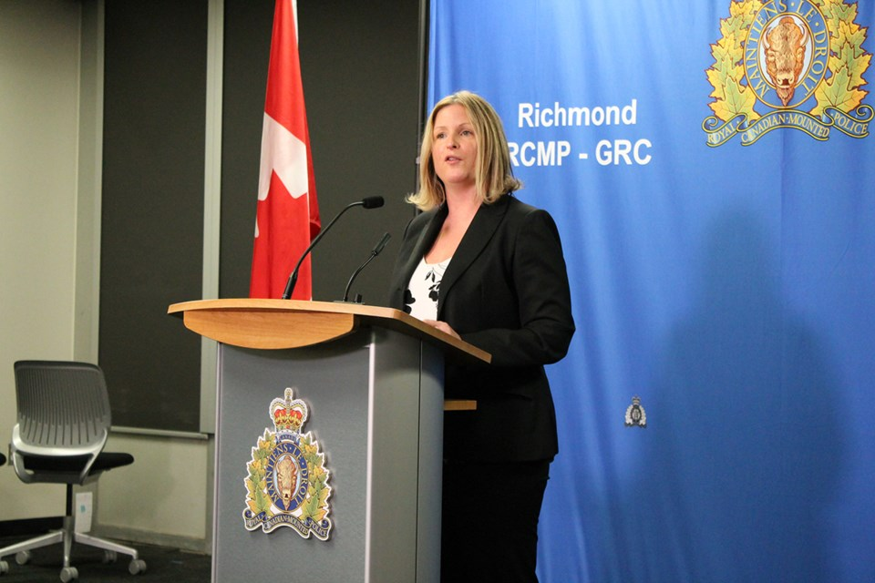 Inspector Michelle Tansey, Acting Officer-in-Charge of the Integrated Homicide Investigation Team (IHIT), speaking on the recent shooting of Dilraj Johal in Richmond.