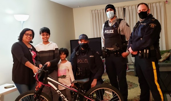 RCMP gives young cyclist new bike