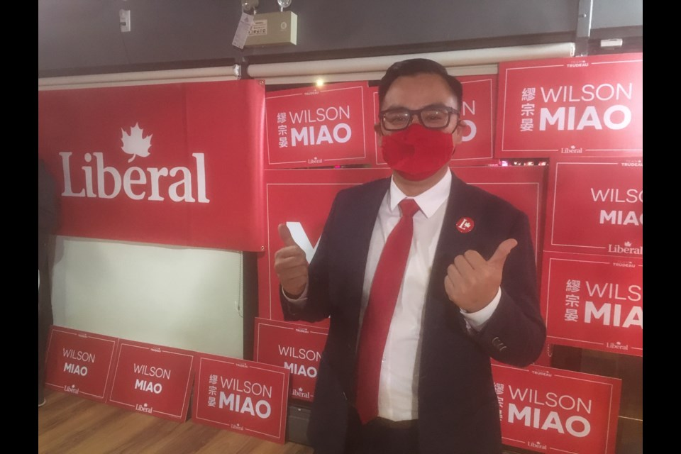Rookie Liberal candidate Wilson Miao has unseated four-time Tory MP Alice Wong.