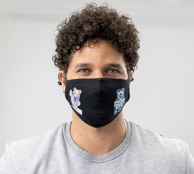 Support local communities by purchasing bear face masks.