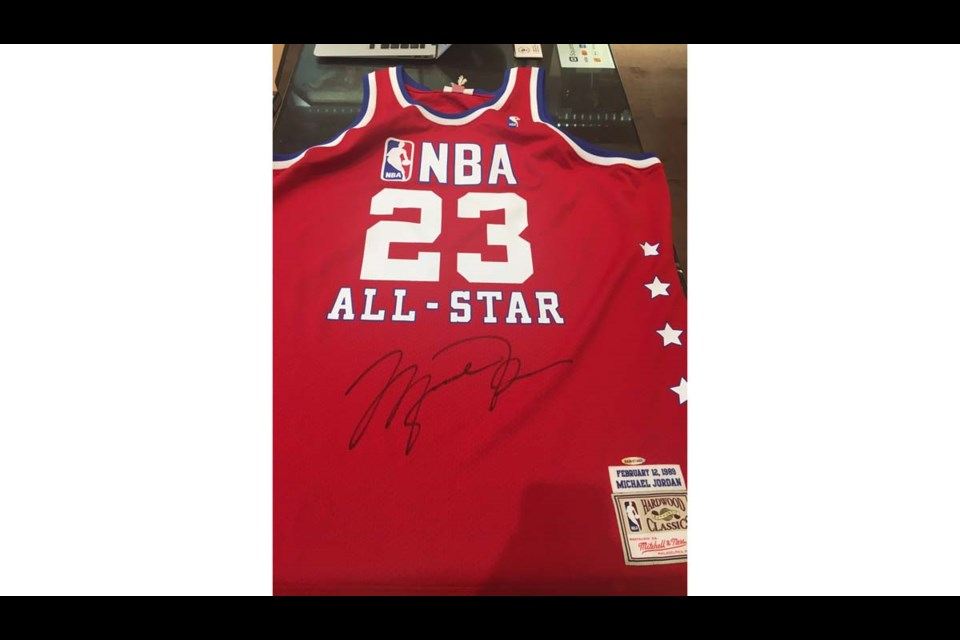 Rep Your Colours will open in Richmond Centre on April 1 with this signed, Michael Jordan jersey for sale for almost $20,000