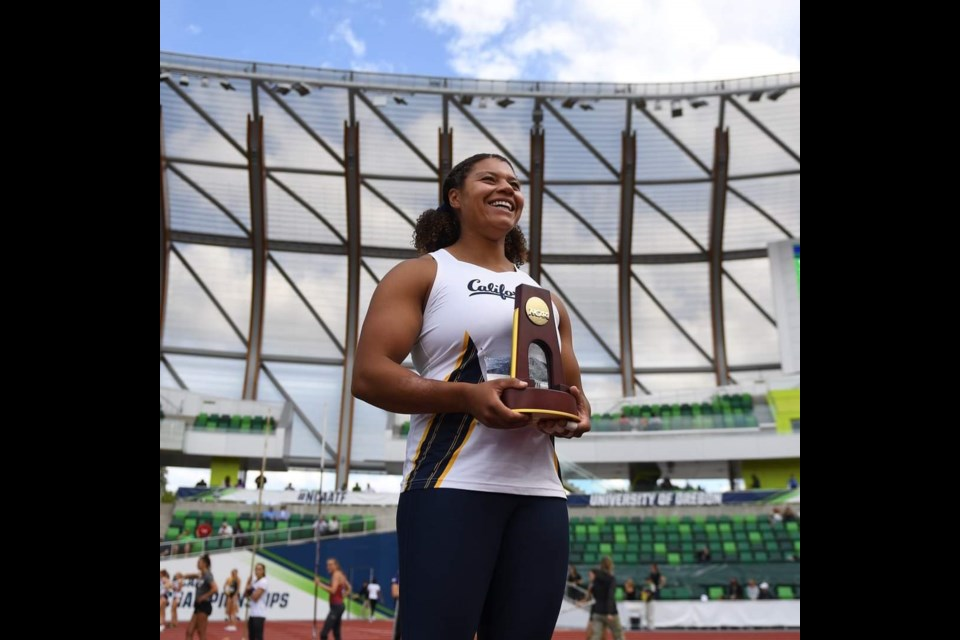 McMath secondary and Kajaks alumnus Camryn Rogers won her second, consecutive NCAA hammer throw title, breaking the record twice in the process