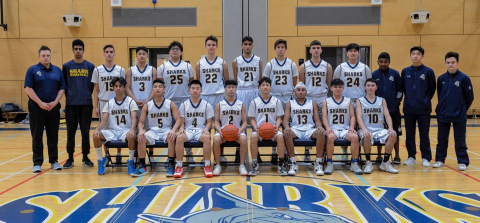 Steveston-London Sharks, senior boys basketball team