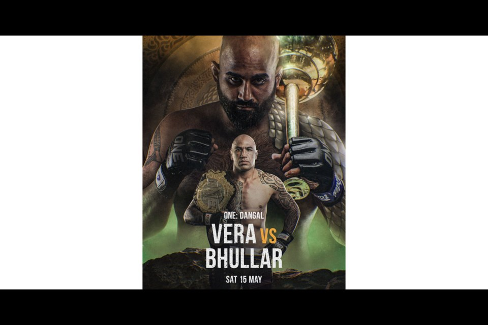 Arjan Bhullar is gearing up for a shot at MMA's One Championship world title fight this Saturday
