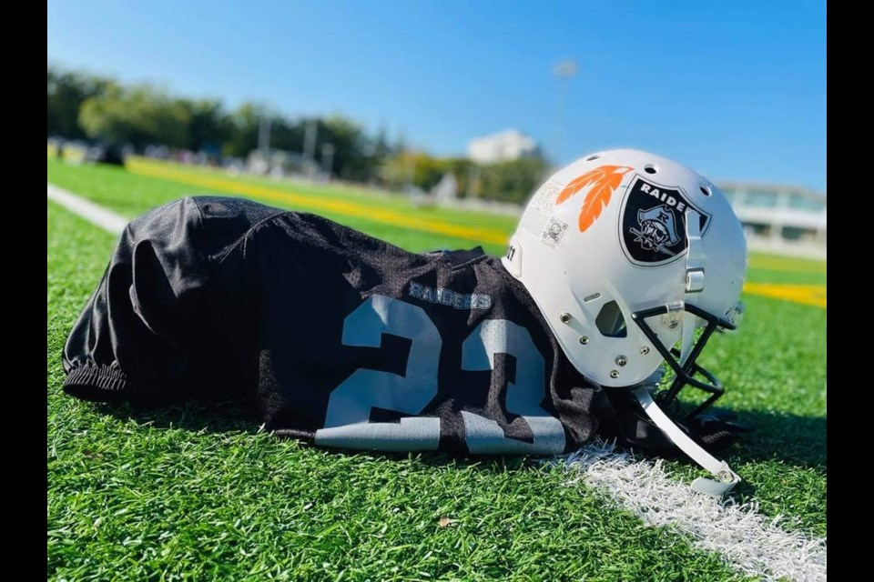 Richmond Raiders marked National Day for Truth and Reconciliation by wearing orange ribbons, feathers and bows, which they will wear all season