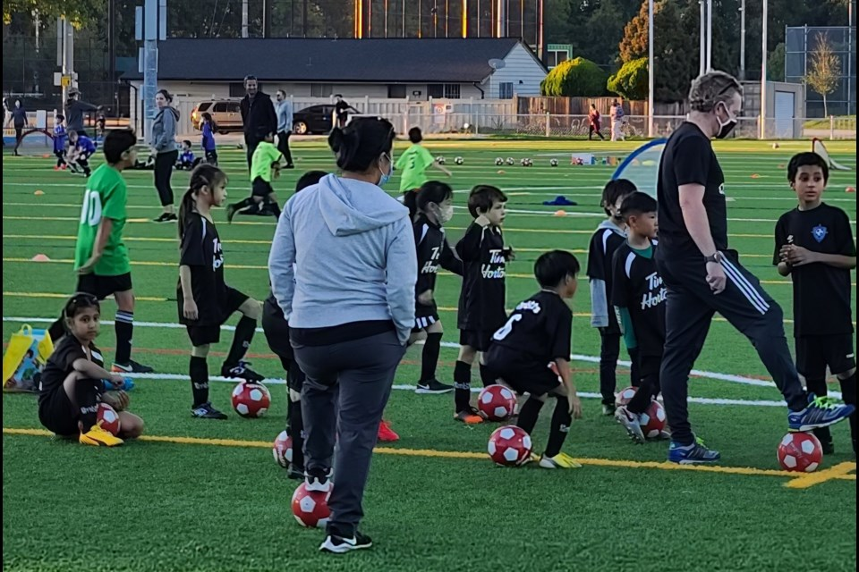 """The chair of Richmond FC says about 140 kids are being crammed onto a soccer field a few times a week due to the City of Richmond's new """"matrix"""" to allocate field space."""