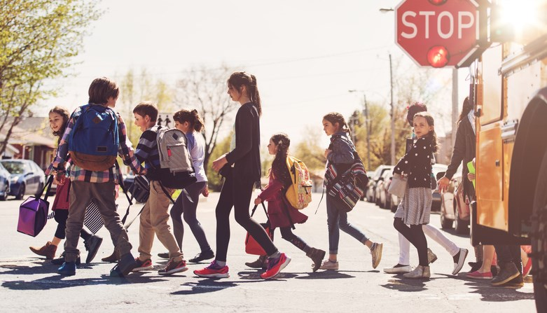 Back to school crosswalk