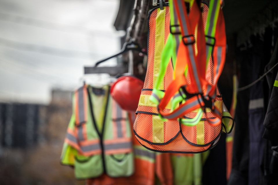 construction safety vests and gear