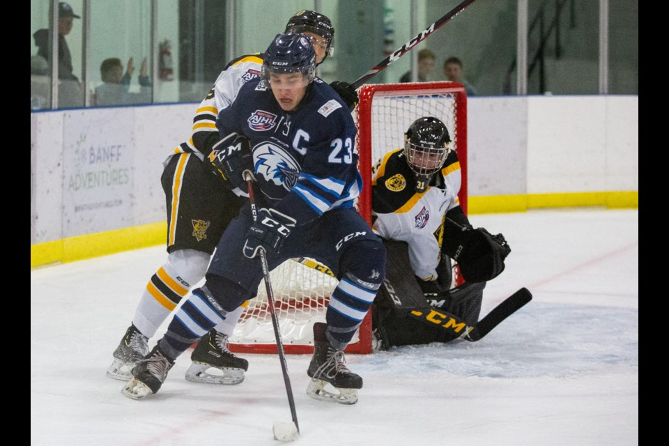 Canmore Eagles' captain, Tian Rask was traded to the Melfort Mustangs on trade deadline day. Evan Buhler RMO PHOTO