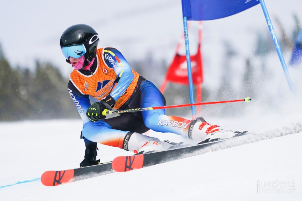 Lake Louise Ski Club racer, Caleb Brooks qualified for the Alberta Alpine U16 European Project and will compete in competitions in Slovenia and Croatia.                Malcom Carmichael PHOTO