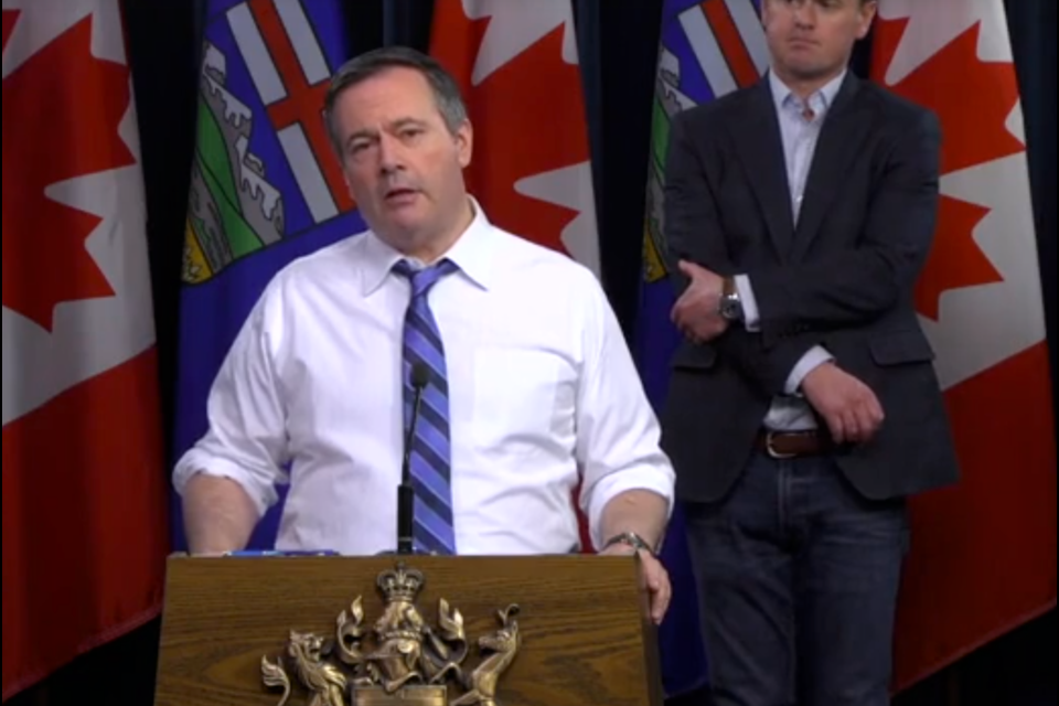 Premier Jason Kenney speaks at COVID-19 press conference on Wednesday (March 25).
