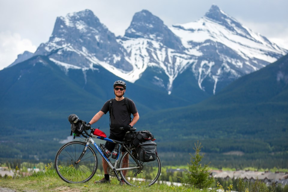 Forrest Propp will cycle more than 1,100 kilometres from Canmore to Victoria, B.C. to raise money for Save the Children charity. Propp's goal is to raise $10,000. EVAN BUHLER RMO PHOTO