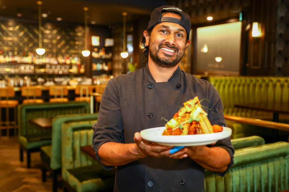 Chef and co-owner the Radiant Ryan De Alwis, a new restaurant on Banff Avenue that opened its doors in June. EVAN BUHLER RMO PHOTO⁠
