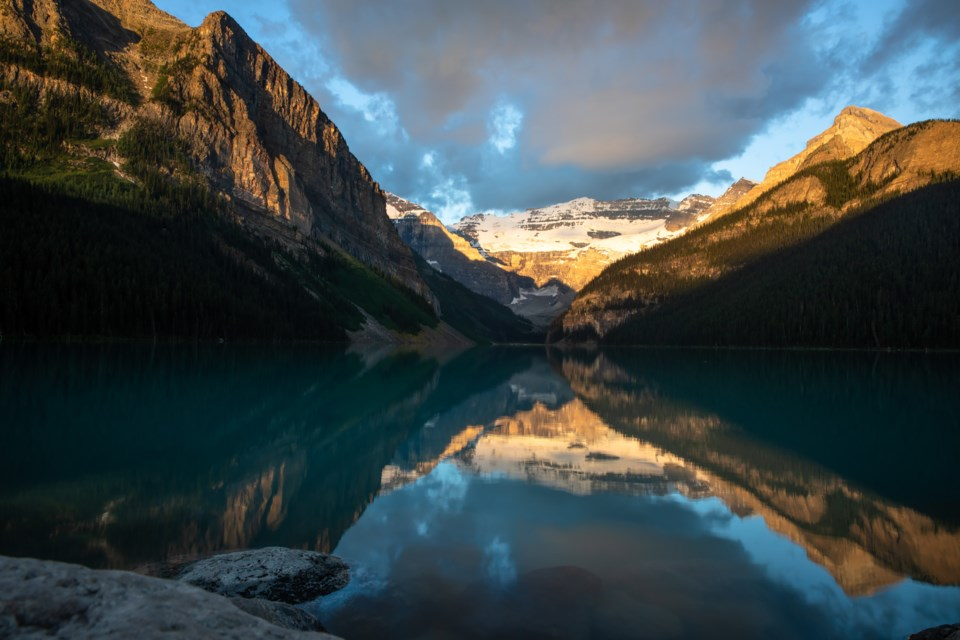 Lake Louise remains a very busy tourist destination this summer despite no international visitors visiting its shores due to COVID-19 travel restrictions. EVAN BUHLER RMO PHOTO