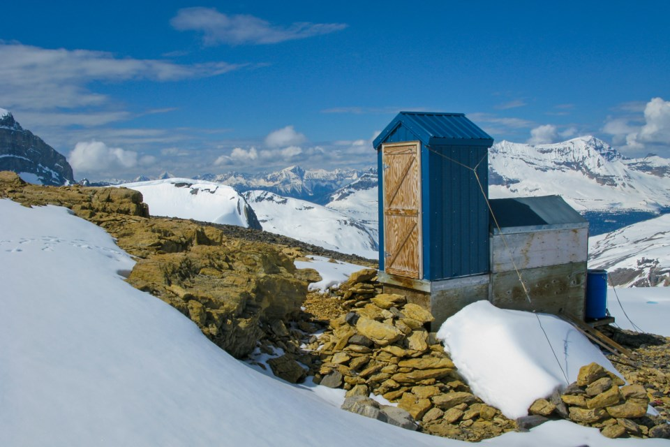 Poo With A View has been a seven-year process for Canmore author and photographer Gavin Boutet, whose book takes a look at high alpine toilets in the Canadian Rockies. GAVIN BOUTET PHOTO