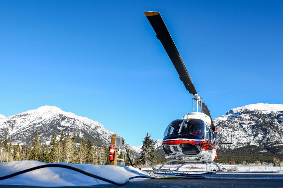 Canmore Municipal Heliport on Thursday (Jan. 14). EVAN BUHLER RMO PHOTO