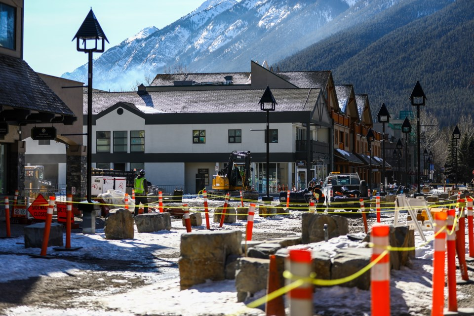 Construction restarted on Bear Street on Tuesday (March 9). EVAN BUHLER RMO PHOTO