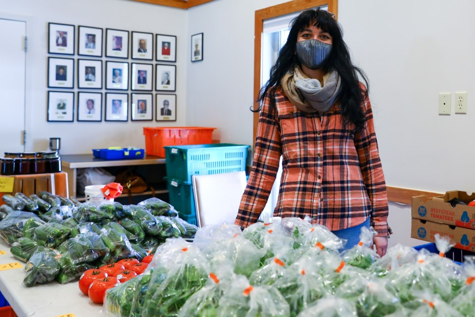 Aida Murias, organizer of the bow Valley Root Cellar on Wednesday (March 17). EVAN BUHLER RMO PHOTO