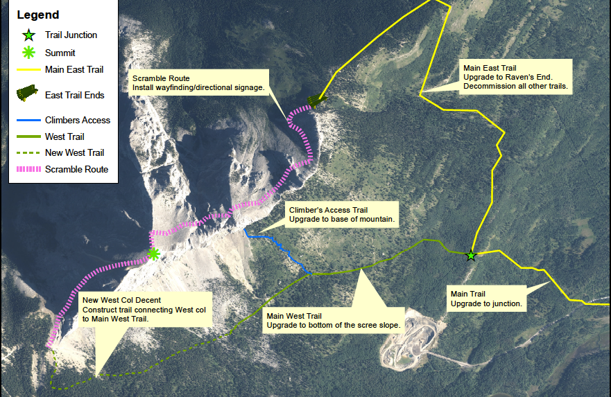 Alberta Parks announced Mount Yamnuska (Îyâ Mnathka) in Bow Valley Wildland Provincial Park will be undergoing upgrades to the trail from the end of May through November. ALBERTA PARKS MAP