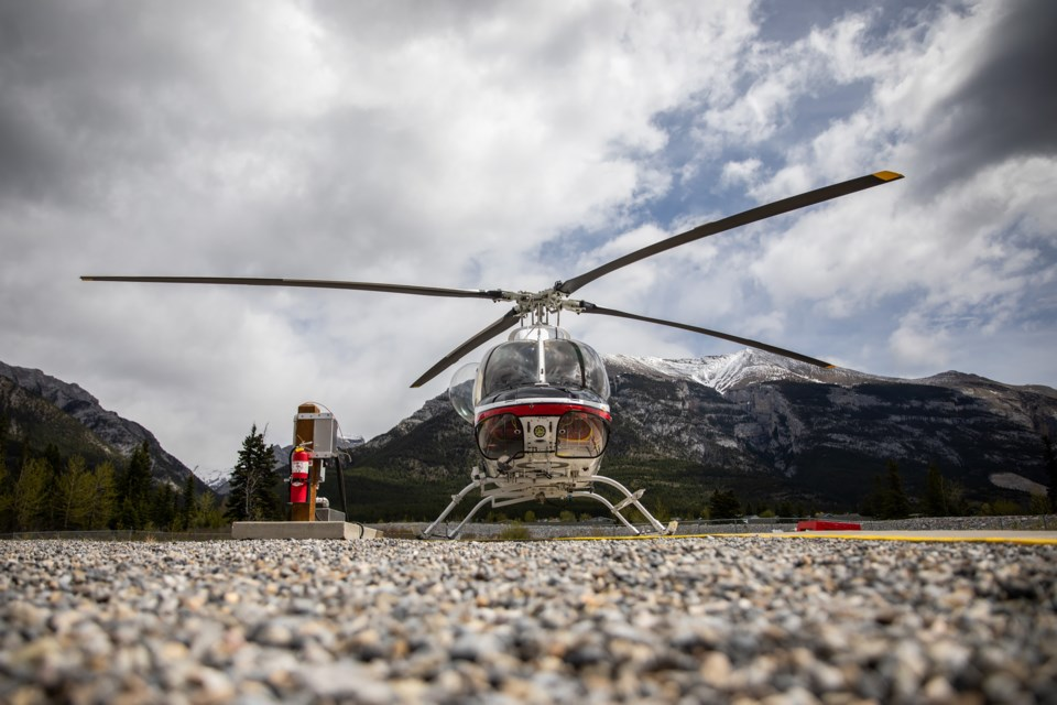 Canmore heliport on Friday (May 28). EVAN BUHLER RMO PHOTO