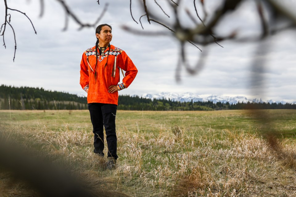 Thomas Snow of the Stoney Nakoda First Nation is a Stoney Nakoda speaker of knowledge. EVAN BUHLER RMO PHOTO