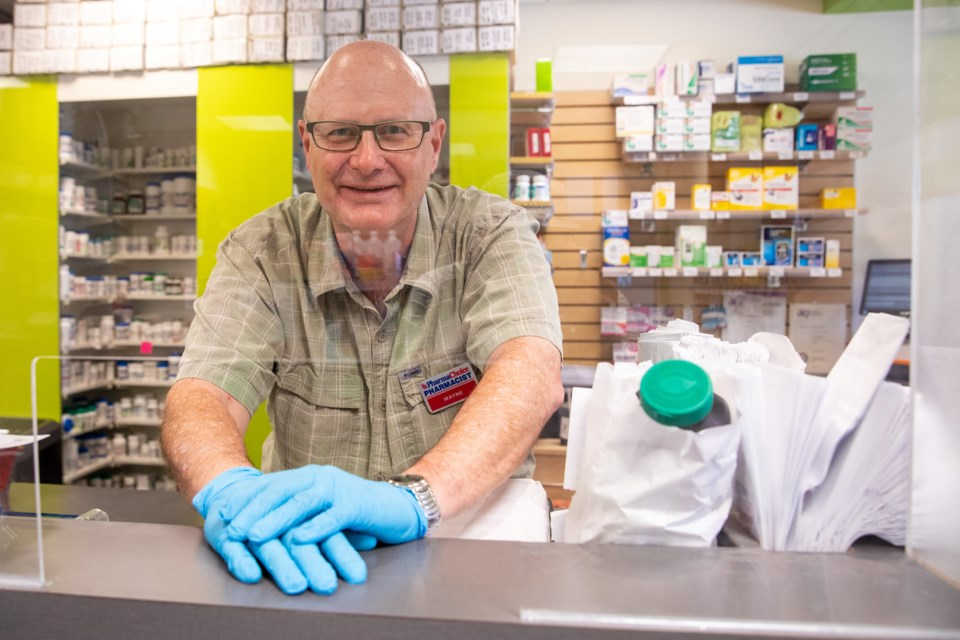 Wayne Hall retired on Wednesday (June 30) after working as a pharmacist in the Bow Valley for nearly 30 years. EVAN BUHLER RMO PHOTO