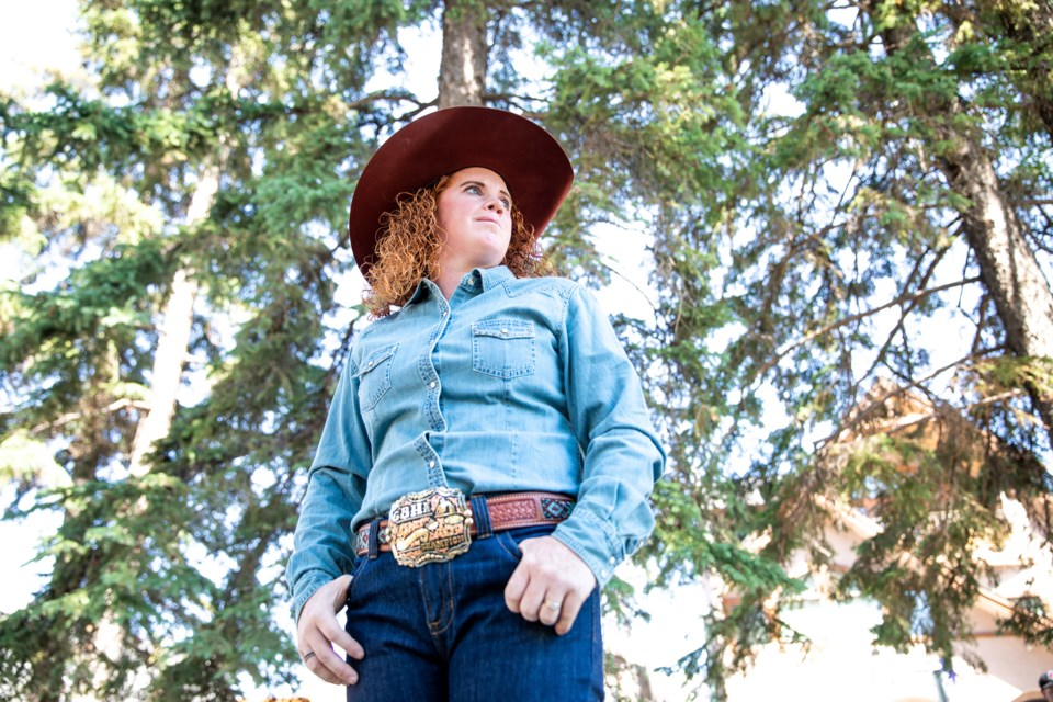Barrel racer Lacey Caldas will compete at her first Calgary Stampede this July. EVAN BUHLER RMO PHOTO