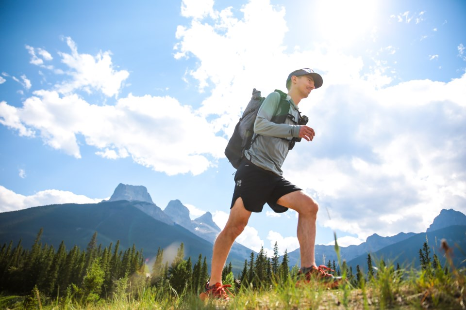 Andrew Cotterell is attempting to set a speed record on the Great Divide Trail to raise money to get disadvantaged youth into the wilderness. EVAN BUHLER RMO PHOTO