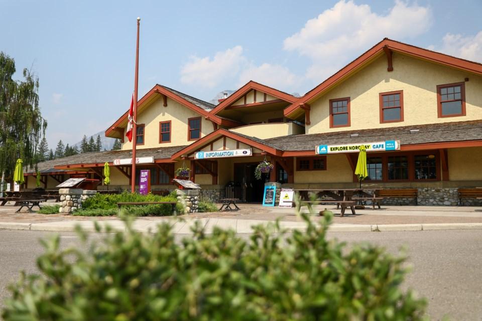 Banff train station. EVAN BUHLER RMO PHOTO