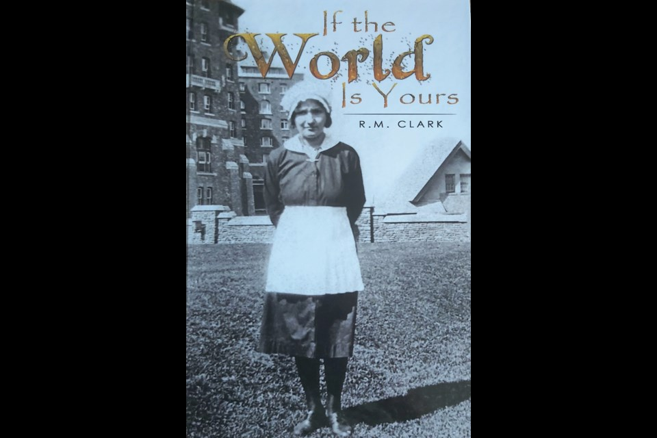 The book, If the World is Yours, focuses on fictitious characters and key events in Banff between 1914 to 1920. While the majority of the characters are fictitious, they're based on real people and events such as the Cave and Basin internment camp, the miner's strike, the life of domestic servants, the First World War and the life of privileged people at the Banff Springs Hotel.  Handout