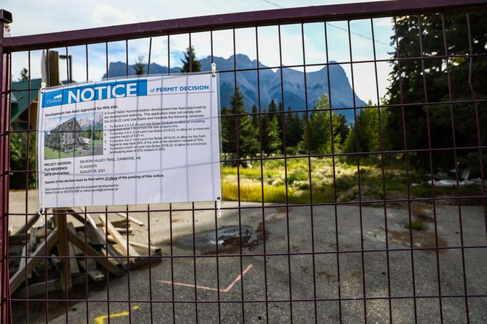Development on Bow Vally Trail on Saturday (Aug. 28). EVAN BUHLER RMO PHOTO