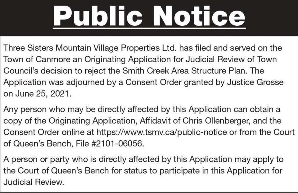 Public Notice – Three Sisters Mountain Village – Smith Creek Judicial Review