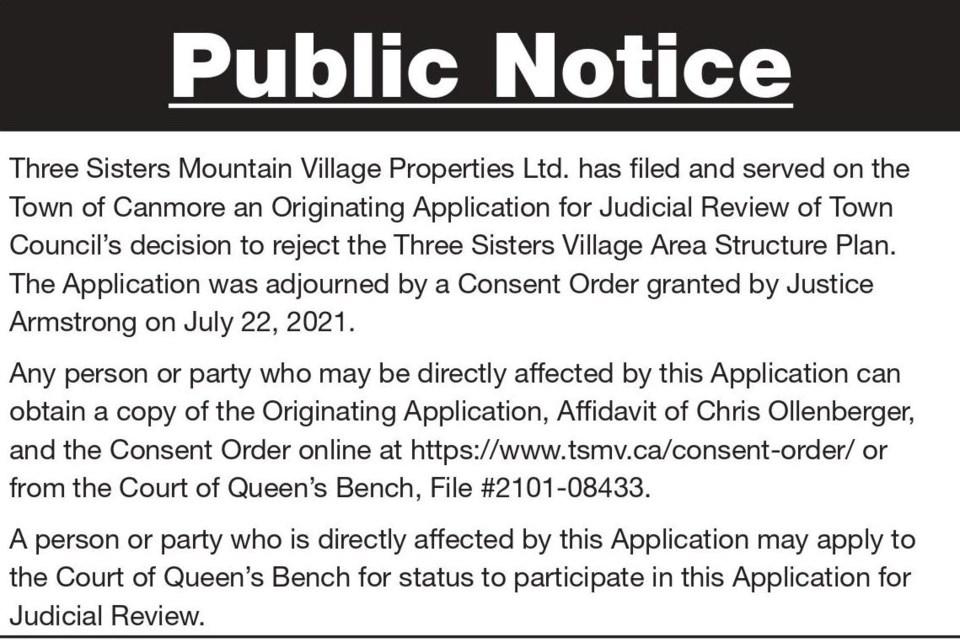 Public Notice – Three Sisters Mountain Village – Three Sisters Village Judicial Review