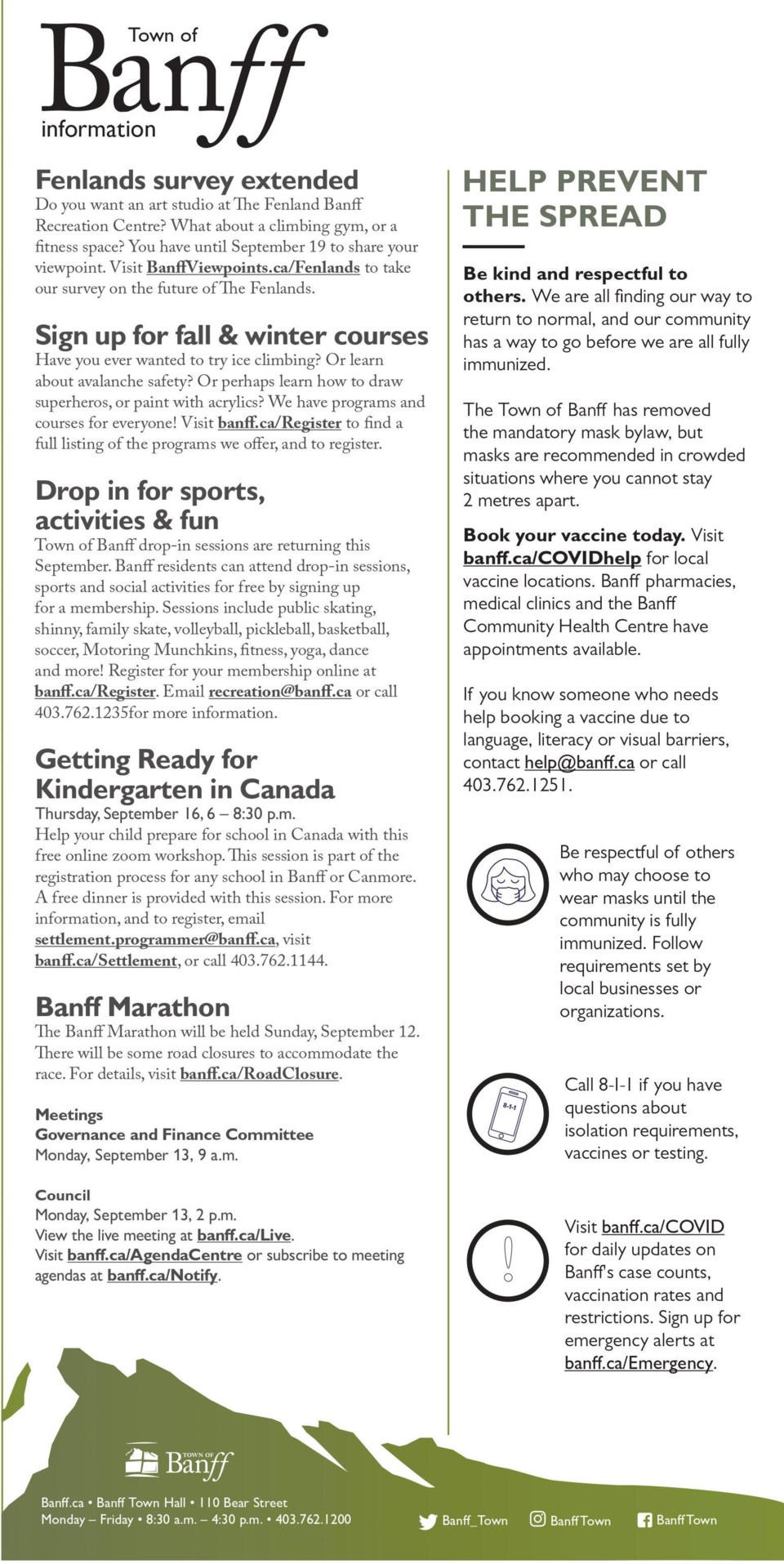 Public Notice – Town of Banff