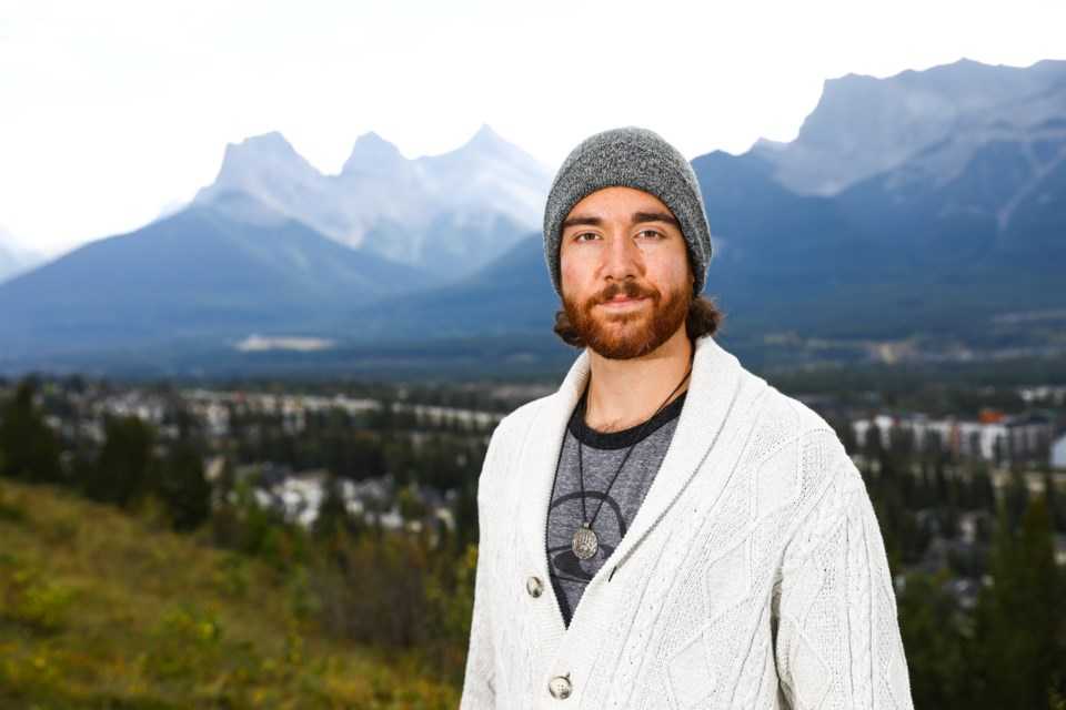 Aidan Blum of Canmore is the Green Party of Canada candidate for the Banff-Airdrie riding in the 2021 federal election. EVAN BUHLER RMO PHOTO