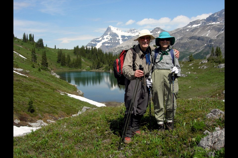 Between them, Richard and Louise Guy attended 60 of the Alpine Club of Canada's General Mountaineering Camps, including at Mount Alexandra in 2007. They donated generously to the ACC, which named a hut for them. SUBMITTED PHOTO
