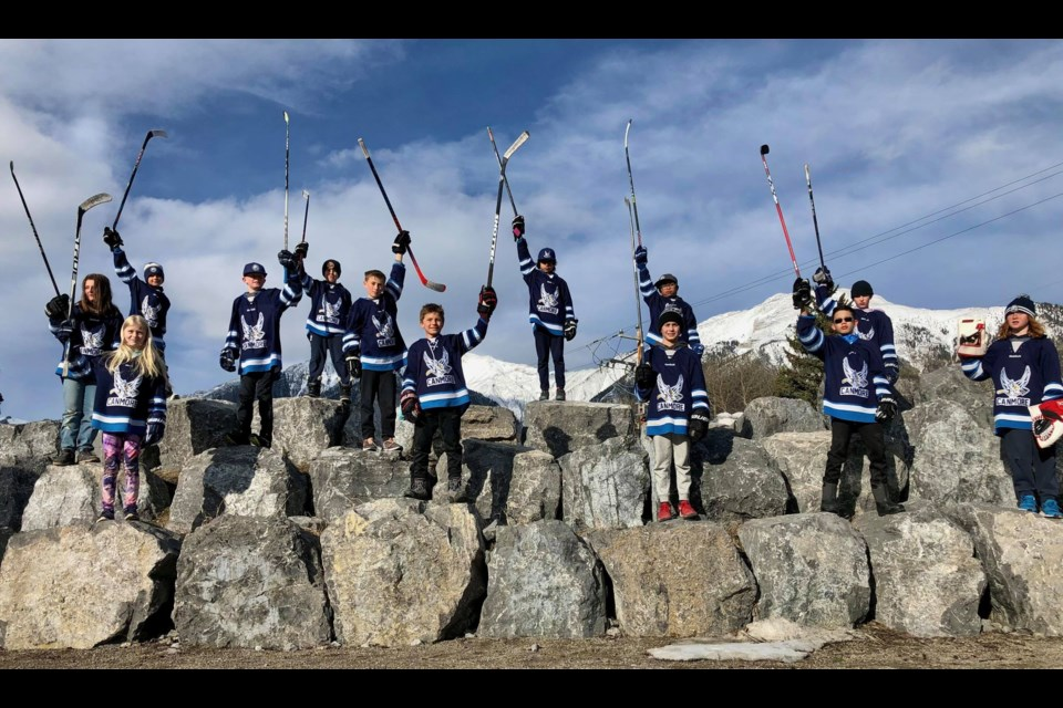 The U13 A Canmore Eagles won $5,000 for Rocky Mountain Adaptive for their video submission to the 2021 Chevrolet Good Deeds Cup. SUBMITTED PHOTO