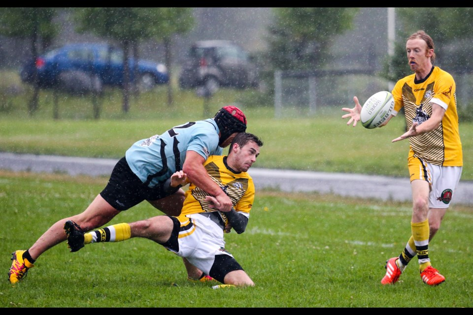 Banff Bears men's rugby at the Banff Recreation Grounds. RMO FILE PHOTO