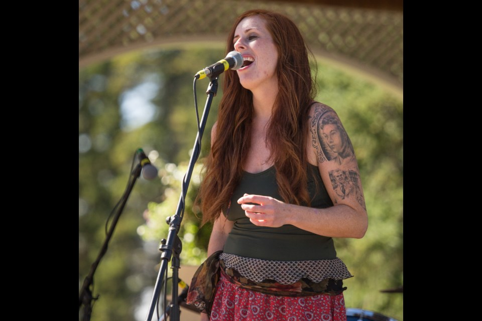 Caitlin Connelly performs the Banff Mountain Music Festival, formerly Harvest Festival. RMO FILE PHOTO