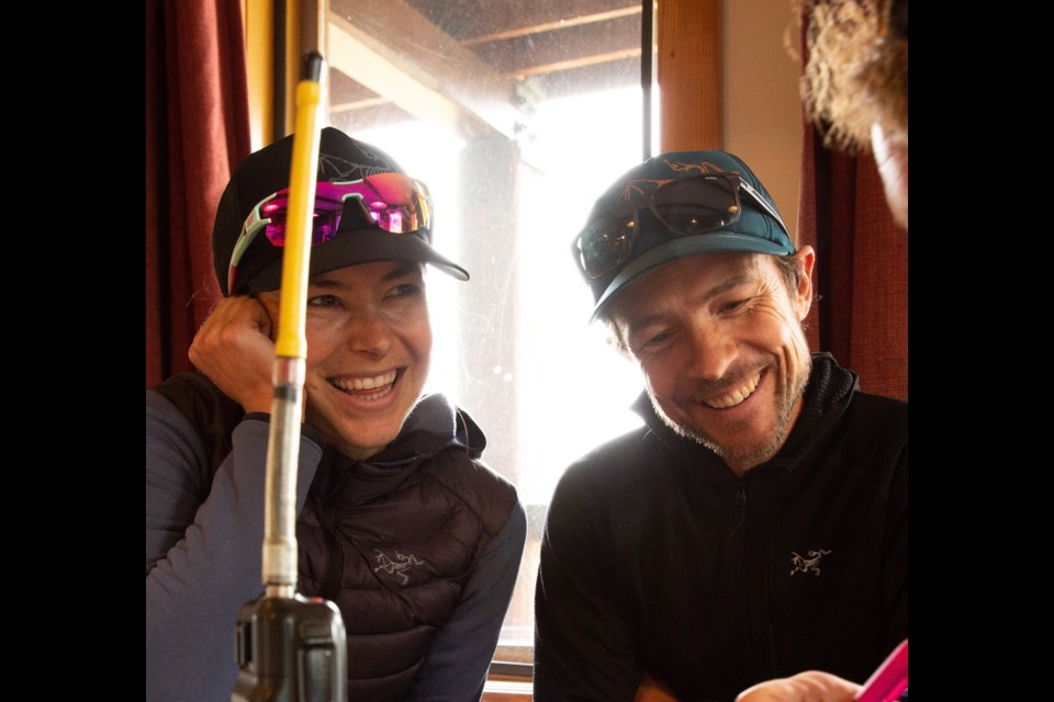 Adam Campbell and his wife Laura Kosakoski at Purcell Mountain Lodge near Golden B.C. in September. Campbell and Kosakoski spent two days at the backcountry lodge trail running in the Purcell Mountains with their friends. RMO FILE PHOTO