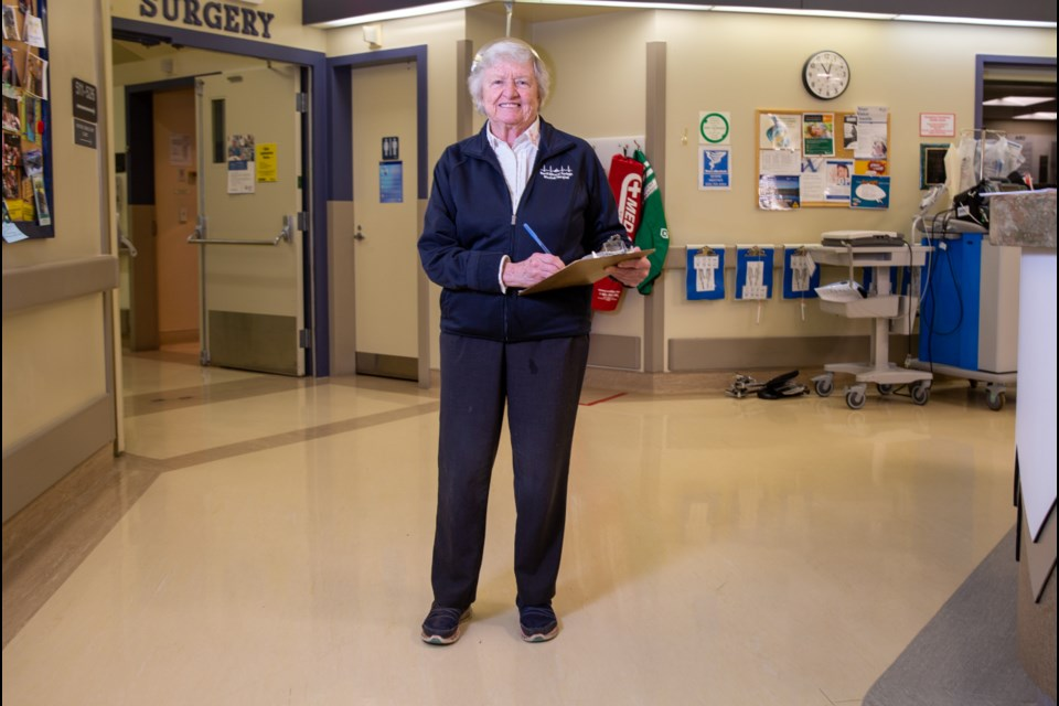 Shirley Pearson will be retiring after working for 56 years as a nurse at Banff Mineral Springs Hospital. Evan Buhler RMO PHOTO