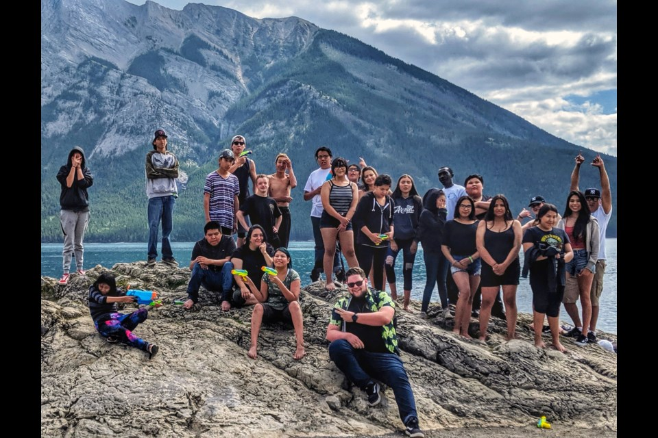 ReFreshed Summer Camp combines hip hop and Indigenous culture for a five day youth camp. ReFreshed Crew and Indigenous youth travelled throughout the Bow Valley to participate in workshops surrounding breakdancing, visual arts, rap and spoken word. NATHAN LENET SUBMITTED PHOTO