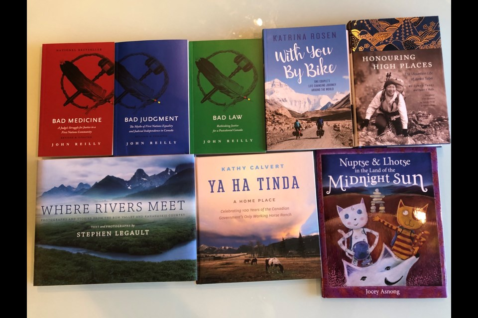 A selection of titles from Rocky Mountain Books, which is celebrating 40 years in the publishing business at the Banff Mountain Book and Film Festival this week.