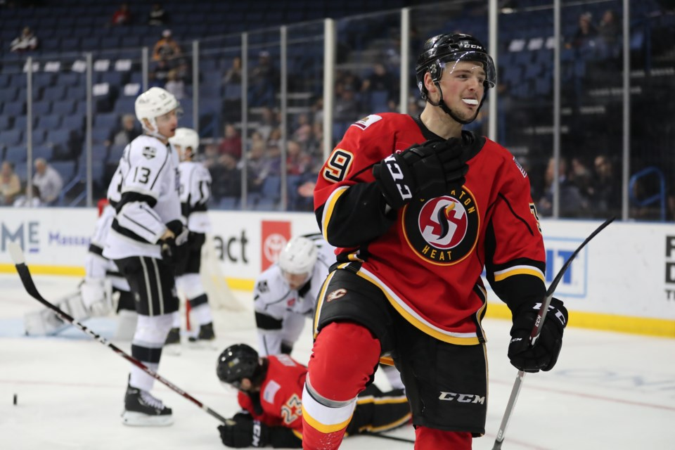 Stockton Heat centre and Canmore-native, Luke Philp. JESSIE HARSEN STOCKTON HEAT PHOTO